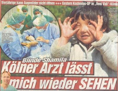 Bild von Blinde Shamila - Kölner Arzt lässt mich wieder SEHEN