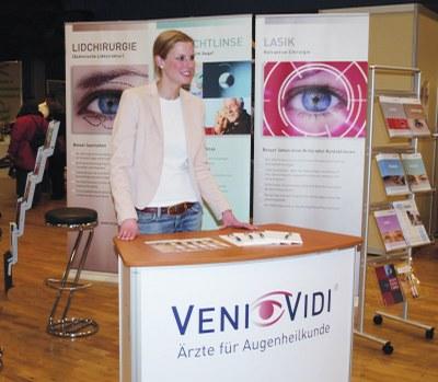 Bild von VENI VIDI im März 2008 auf den Hürther Gesundheitstagen vertreten.