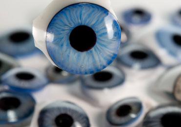 Bild von Perfekte Augen, die nichts sehen