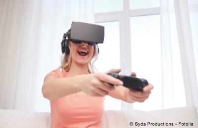 Bild von Schaden Virtual-Reality-Brillen den Augen?