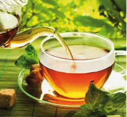 Bild von Entspannen und Tee trinken