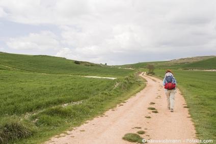 Bild von Pilgern – der Weg ist das Ziel